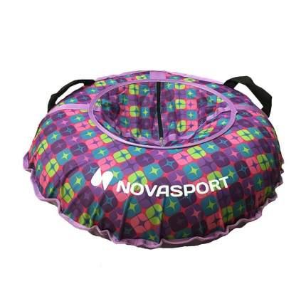 Тюбинг NovaSport 110 см без камеры CH030.110 фиолетовый/разноцветные звезды