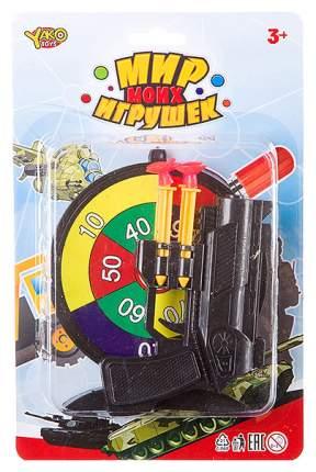 Набор Yako Toys Тир 6 предметов: пистолет, мишень, 4 дротика с присосками