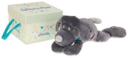 """Мягкая игрушка """"Собака"""", цвет серый/бирюзовый, 45 см Lapkin"""
