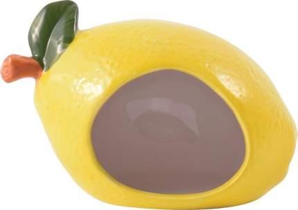 Домик для грызунов КерамикАрт Лимончик, желтый, 13х8х9см