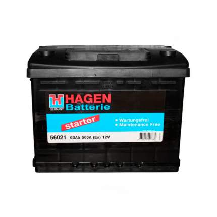Аккумуляторная Батарея [12v 60ah 500a B13] HAGEN BATTERIE 56021