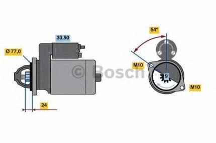 Стартер Bosch 0001138017