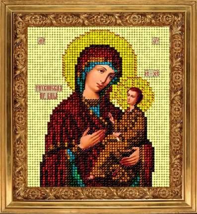 Набор для вышивания ювелирным бисером Краса и творчество 10913 Тихвинская икона 9,8х11 см