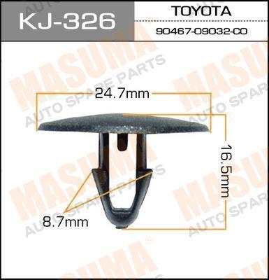 Клипса автомобильная Masuma KJ326
