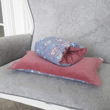 Подушка-трансформер для кормления TI AMO МАМА Magic Pillow голубые цветы, пепельная роза