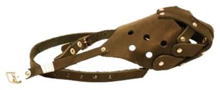 Намордник ГеоГазТехнология для собак кожа №5 полуглухой с перемычкой (ротвейлер)