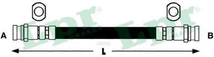 Шланг тормозной системы Lpr 6T46440 задний