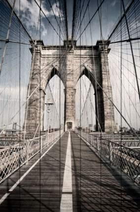 Картина на дереве Бруклинский мост 100 х 150 см