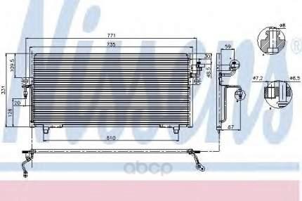 Радиатор кондиционера Nissens 94299