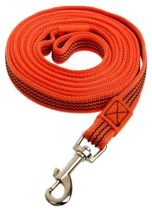 Поводок для собак Зооник 11428-2 капроновый с двойной латексной нитью 3м х 20мм оранжевый