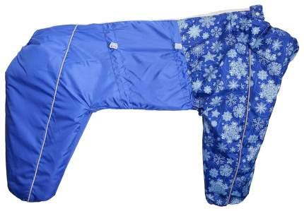 Комбинезон для собак OSSO размер M мужской, синий, длина спины 50 см