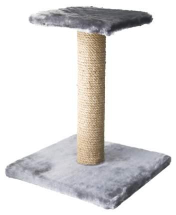 Когтеточка Зооник на подставке с полочкой 54 см серый (однотонный мех) 340*340*540