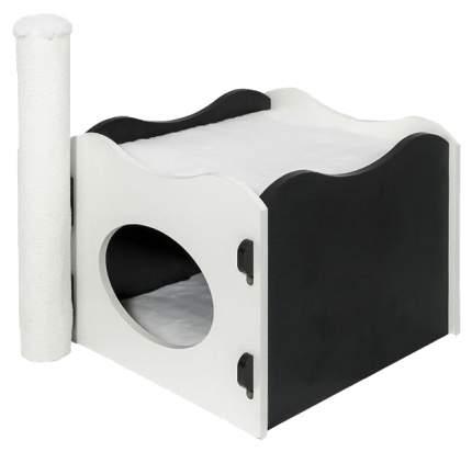 Домик для кошек Дарэлл Летний для кошек 45х36х46 см Черно-белый