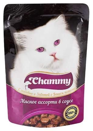 Влажный корм для кошек Chammy мясное ассорти в соусе, 85 г