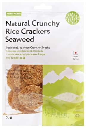 Крекеры из коричневого риса Ufeelgood с морскими водорослями нори 50 г