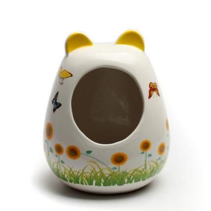 Купалка для шиншилл Sundog керамика, 21 х 17 х 17 см, цвет белый