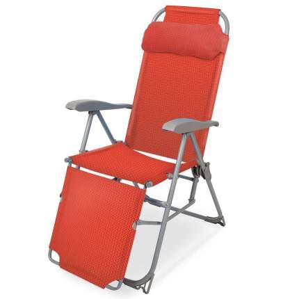 Кресло-шезлонг Nika 3 с подножкой К3 гранатовое