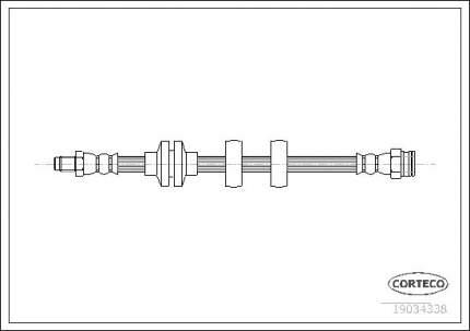 Шланг тормозной CORTECO 19034338