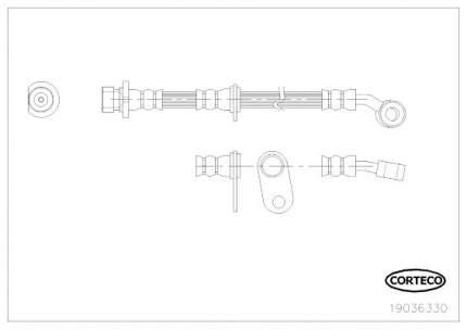 Шланг тормозной системы CORTECO 19036330