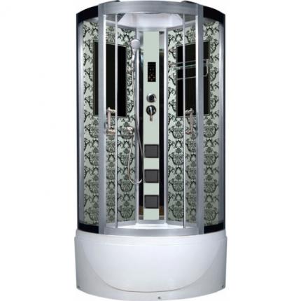 Душевая кабина Niagara Lux NG-7790W 90x90x215, белый с узором