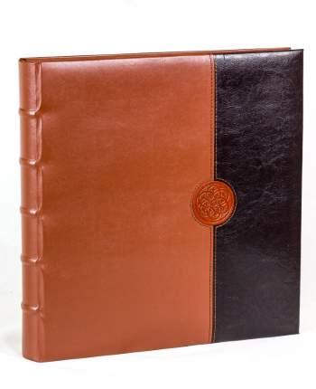 """Фотоальбом """"Розетта"""" обложка двухцветная эко-кожа, 60 магнитных страниц 31х32 см"""