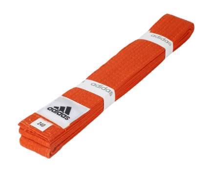 Пояс для единоборств Adidas Club оранжевый, 260 см