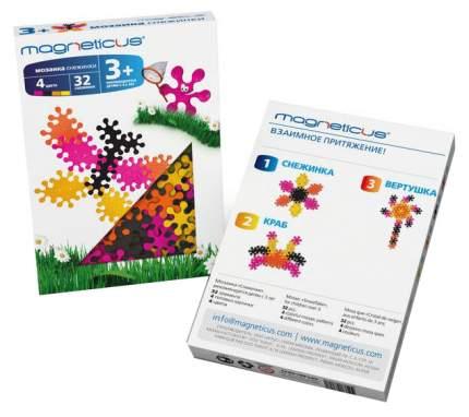 Мозаика Magneticus Снежинки 4 цвета 30 шт.