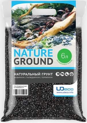 Натуральный грунт UDeco Canyon Black для аквариумов Черный гравий 4-6 мм (6 л)