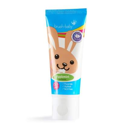 Детская зубная паста Brush Baby до 3 лет 50 мл яблоко/мята