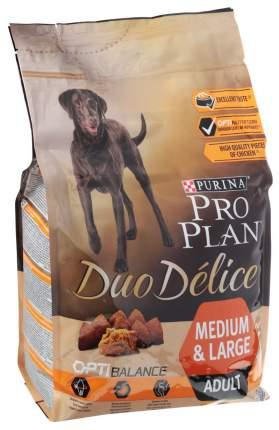 Сухой корм для собак PRO PLAN Duo Delice Medium & Large Adult, курица и рис, 2,5кг