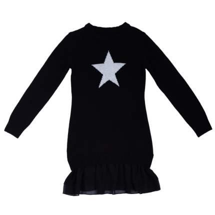 Платье S'cool трикотажное для девочек р.140, 364137 черный