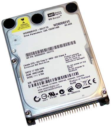 Внутренний жесткий диск Western Digital 80GB (WD800BEAE)