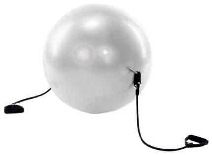 Мяч гимнастический с эспандерами Bradex Фитбол-65, серый, 65 см