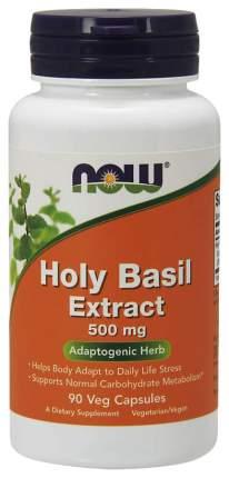 Для нервной системы NOW Holy Basil Extract 500 мг 90 капсул