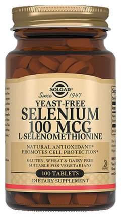 Селен Solgar Selenium 100 табл. без вкуса