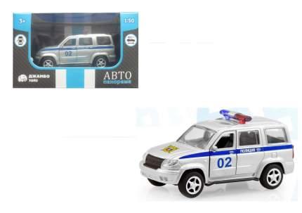 Машинка металлическая Автопанорама Полиция, серебро, 1200064
