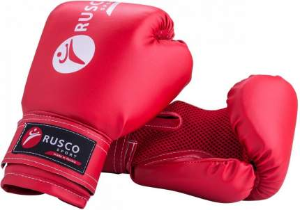 Боксерские перчатки Rusco Sport красные 8 унций