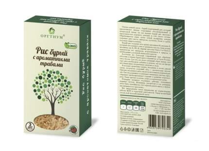 Рис бурый Оргтиум с ароматными травами 175 г