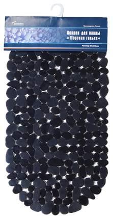 Коврик для ванной Вилина Морская Галька 6805 69х36 см Черный