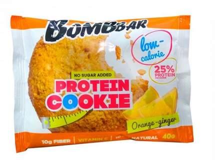 Bombbar Низкокалорийное протеиновое печенье 40 г (вкус: апельсин-имбирь)
