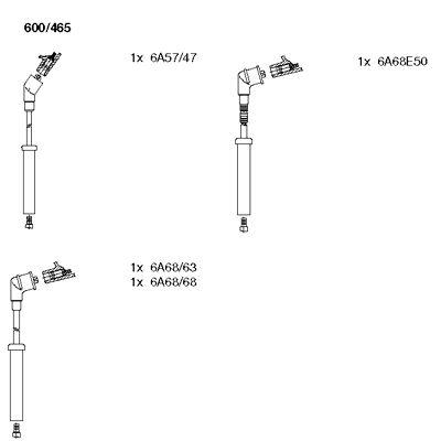 Комплект проводов зажигания BREMI 600/465
