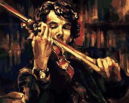 """Картина по номерам Paintboy """"Скрипка Шерлока Холмса"""", 40x50 см"""