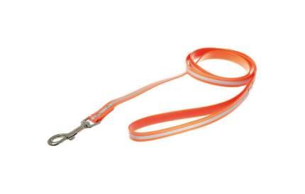 Поводок для собак V.I.Pet, с карабином, биотановый, светоотражающий, оранжевый, 3м x 20мм