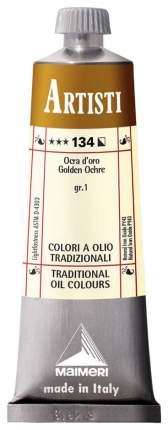 Масляная краска Maimeri Artisti охра золотистая 40 мл