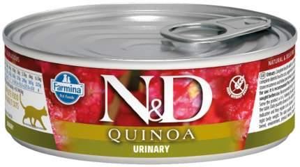 Консервы для кошек Farmina N&D Quinoa Urinary, при МКБ, с уткой и киноа, 80г