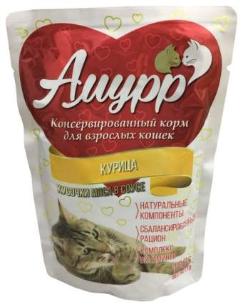 Влажный корм для кошек Амурр, курица, 100г