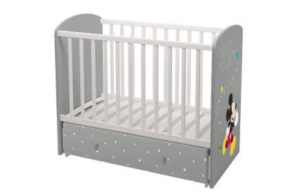 Кровать-трансформер детская Polini Disney baby 750 Микки Маус Белый/Серый