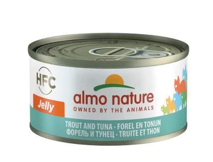 Консервы для кошек Almo Nature HFC Jelly, тунец, форель, 70г
