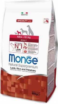 Сухой корм для собак Monge Speciality Mini, для мелких пород, ягненок, рис,картофель,0,8кг