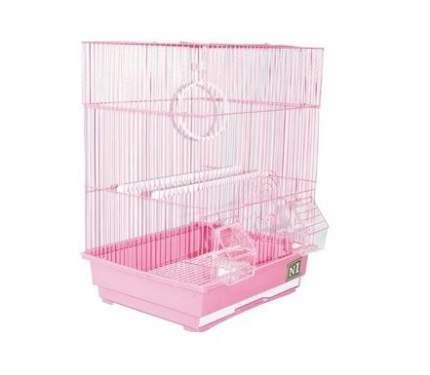 Клетка для птиц №1, прямоугольная, укомплектованная, 35 х 28 х 46 см